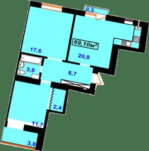 Гімназійний 13-69,10